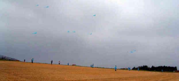 Drachen fliegen für den Frieden